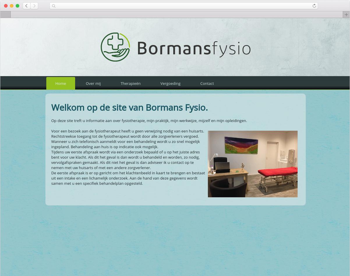 Wesbite Bormansfysio