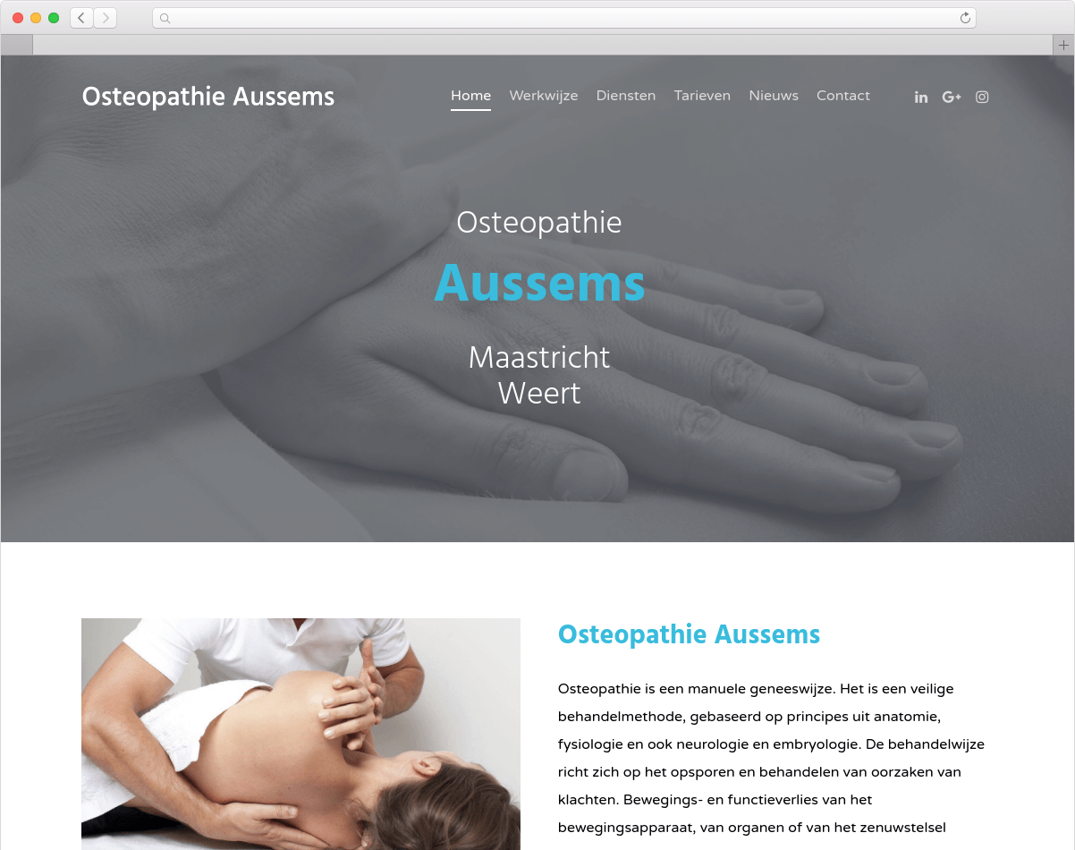 Website Osteopathie Aussems